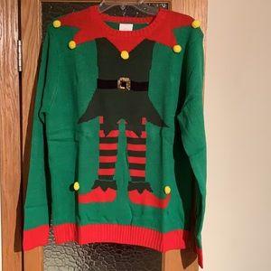 ClausPlay Elf Sweater, Medium